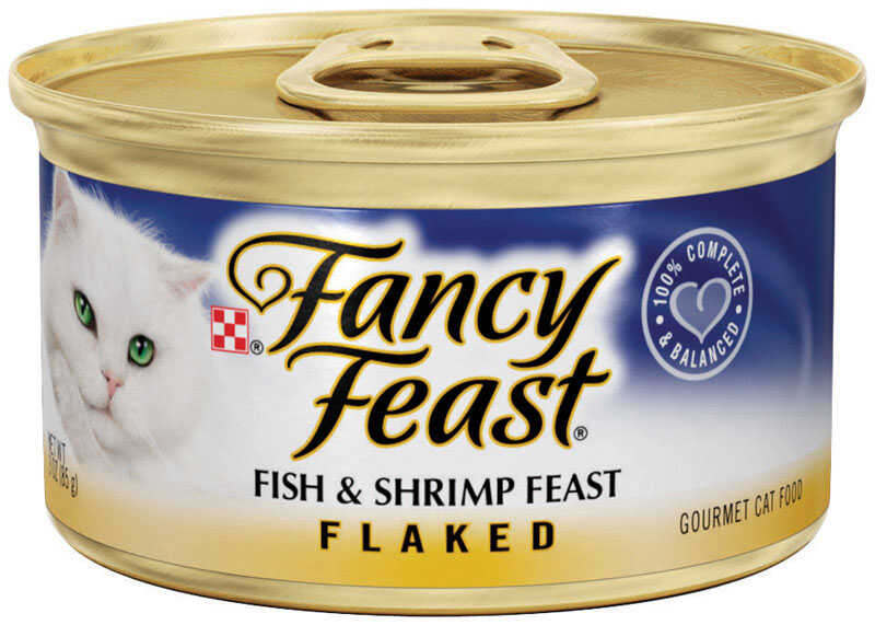 Purina  Fancy Feast  Fish and Shrimp  Pate  Cat  Food  3 oz.