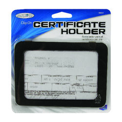 Custom Accessories Black Certificate Holder 1 pk Used to Store Certificates, Registration, Photos
