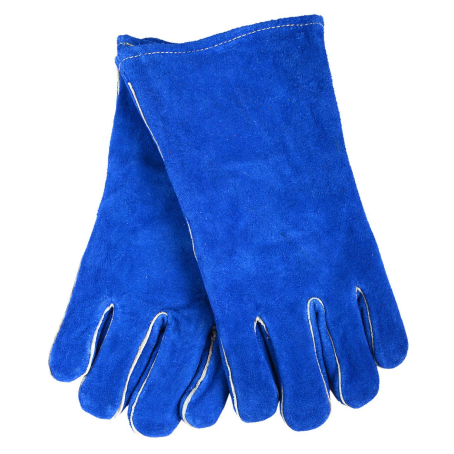 Forney 13.5 in. Leather Welding Gloves Blue L 1 pk
