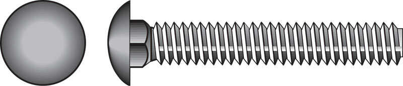 Hillman  1/2 in. Dia. x 5 in. L Zinc-Plated  Steel  Carriage Bolt  25 pk