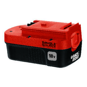 Black and Decker  18 volt Ni-Cad  Battery Pack  1 pc.