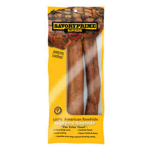 Savory Prime  Medium  Adult  Rawhide Bone  Beef  10 in. L 2 pk