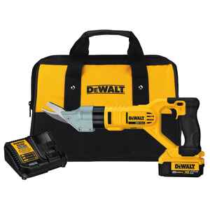DeWalt  20V MAX  0.63 Ga. Cordless  Fiber Cement Shears  Kit 20 volt 2500 spm Yellow