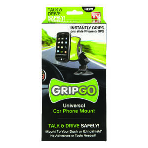 GripGo  As Seen On TV  Universal Car Phone Mount  Polymer  1 pk