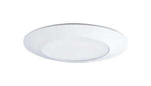 Halo  Gloss  White  6 in. W Plastic  Shower Lens/Trim