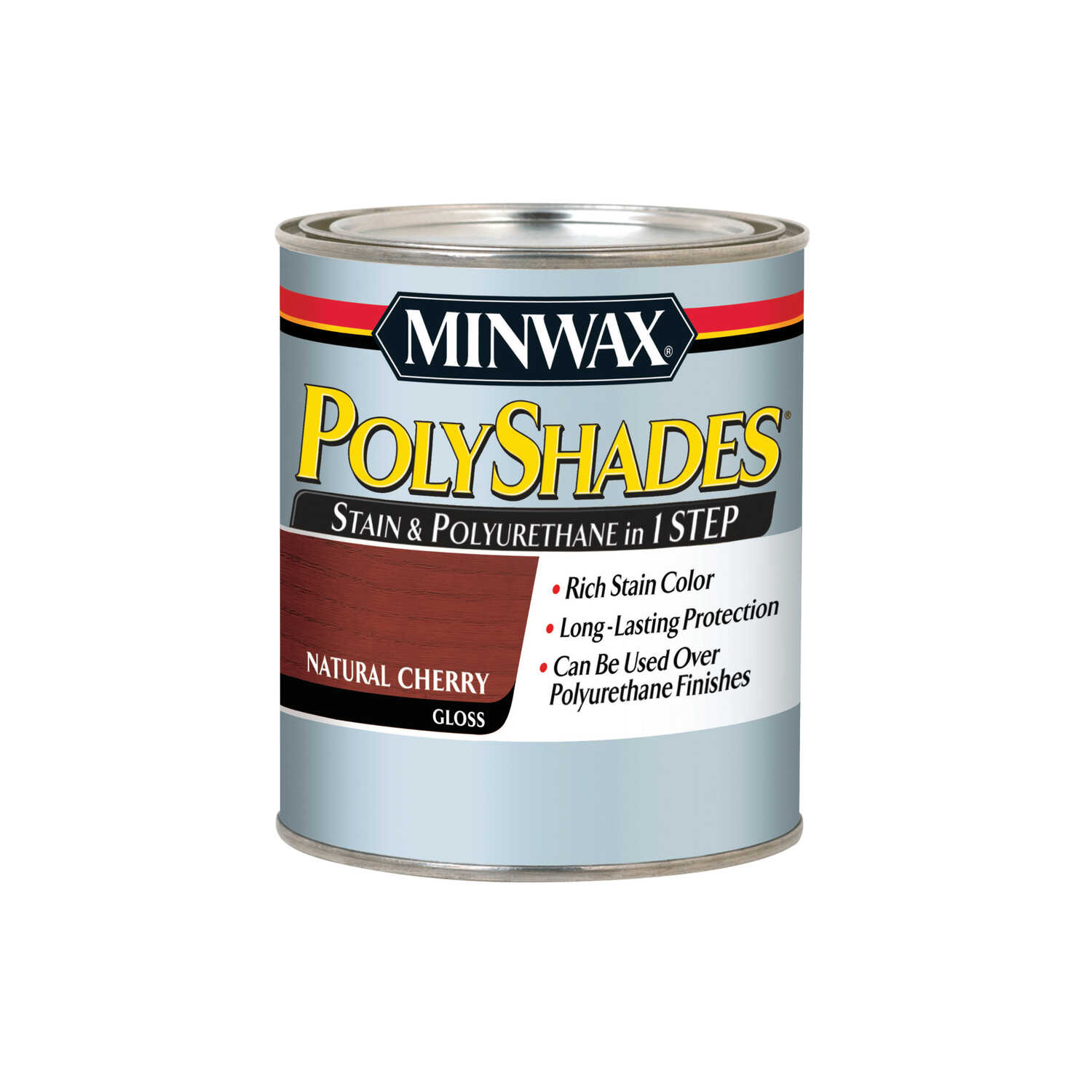Minwax  PolyShades  Semi-Transparent  Gloss  Natural Cherry  Oil-Based  Stain  1 qt.