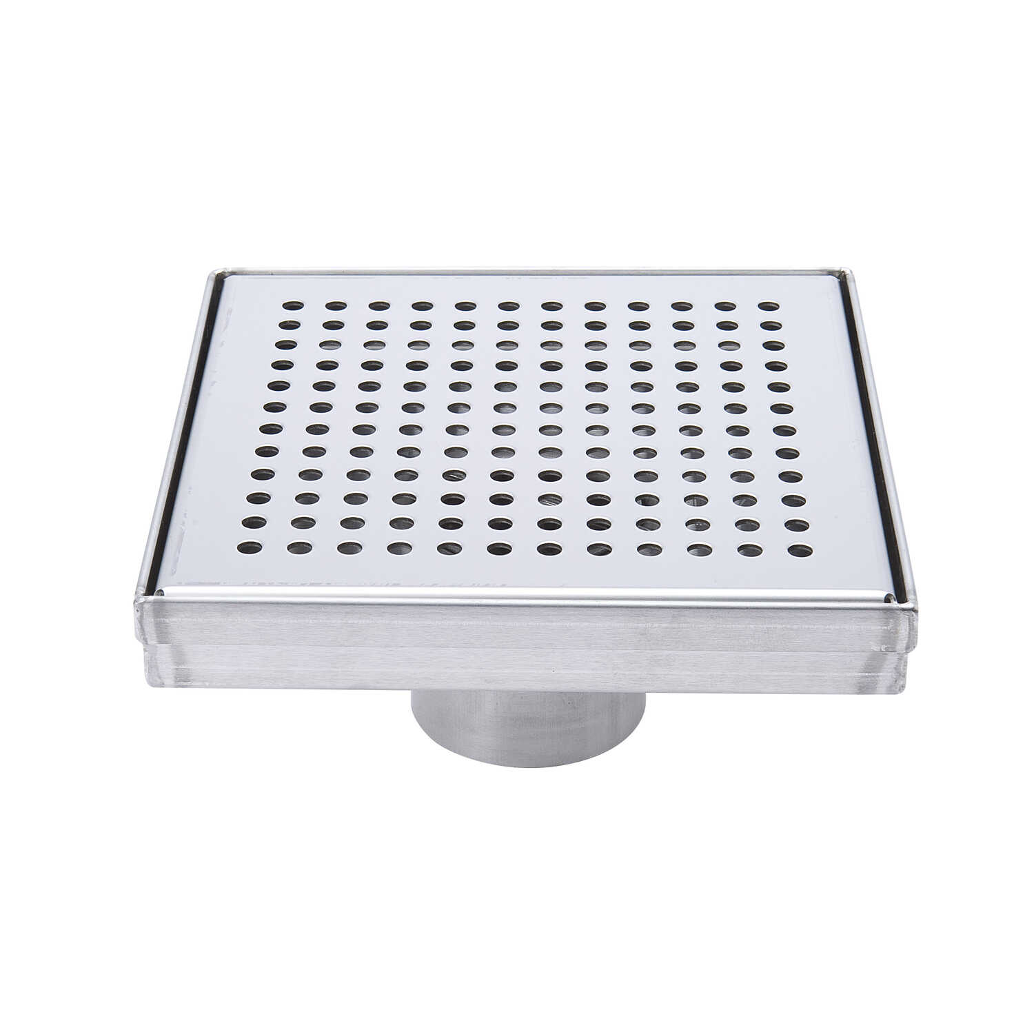 B & K  6 in. L Chrome  Square Shower Drain