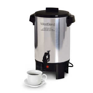 West Bend  Coffee Urn  Silver  30 cups
