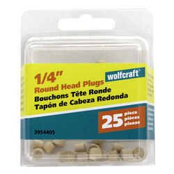 Wolfcraft  Round  Birch  Head Plug  1/4 in. Dia. x 0.225 in. L 1 pk Natural