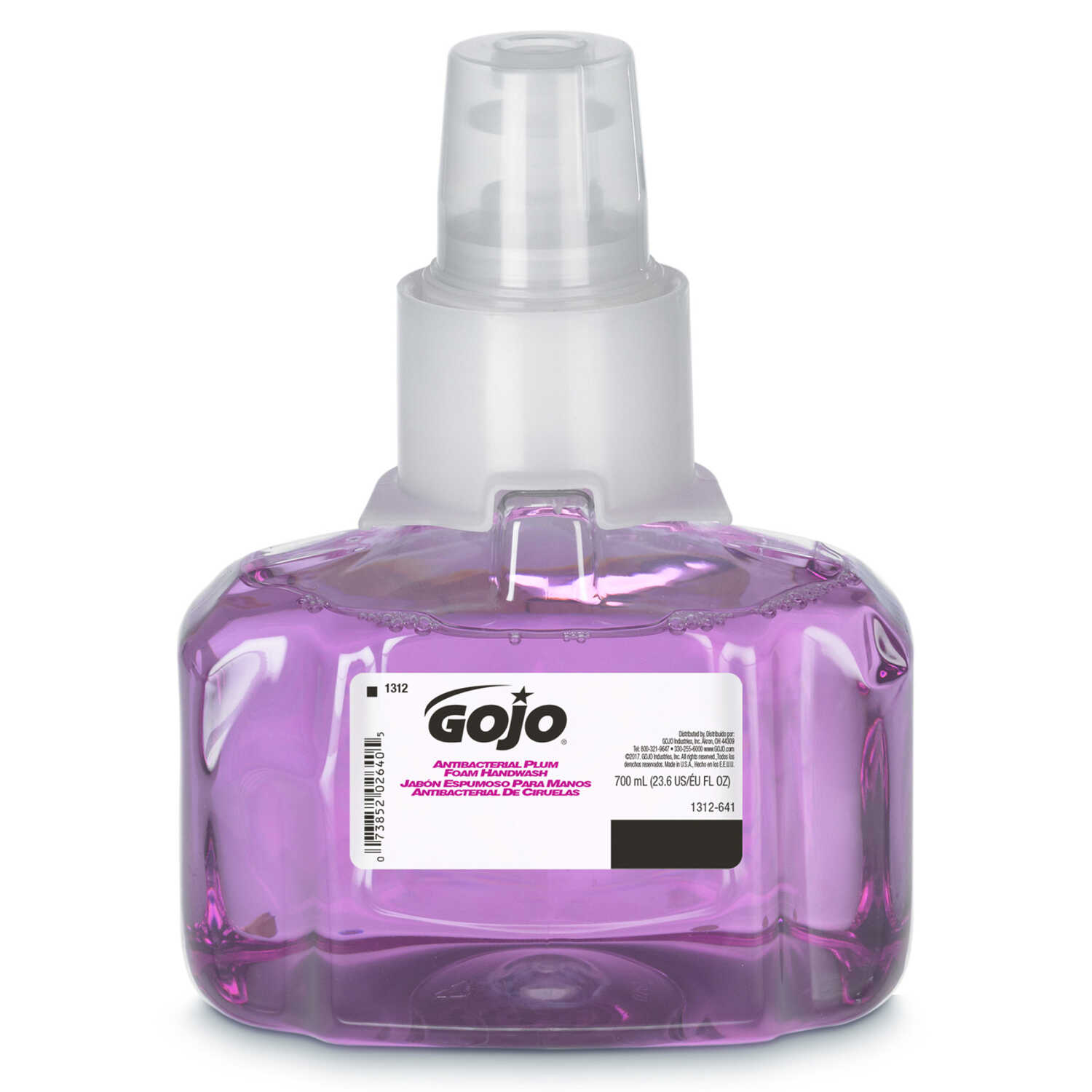 Gojo  Plum Scent Antibacterial Hand Soap Dispenser Refill  700 ml