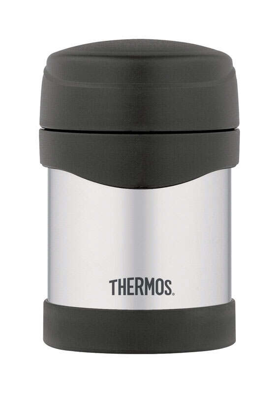 Thermos 10 oz. Black/Silver Vacuum Insulated Food Jar 1 pk