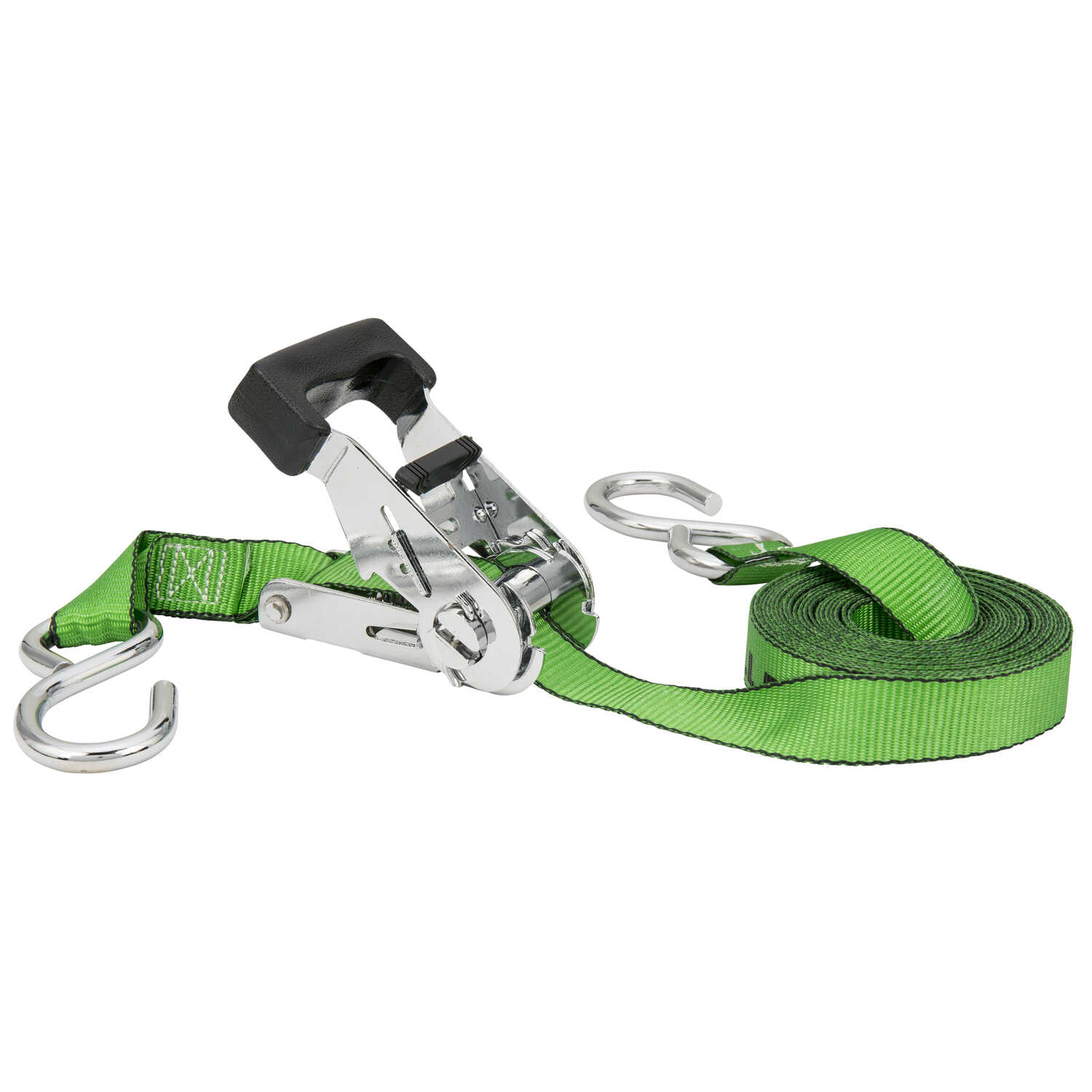 Keeper  Chrome Series  1 in. W x 16 ft. L Green  Tie Down Strap  500 lb. 1 pk