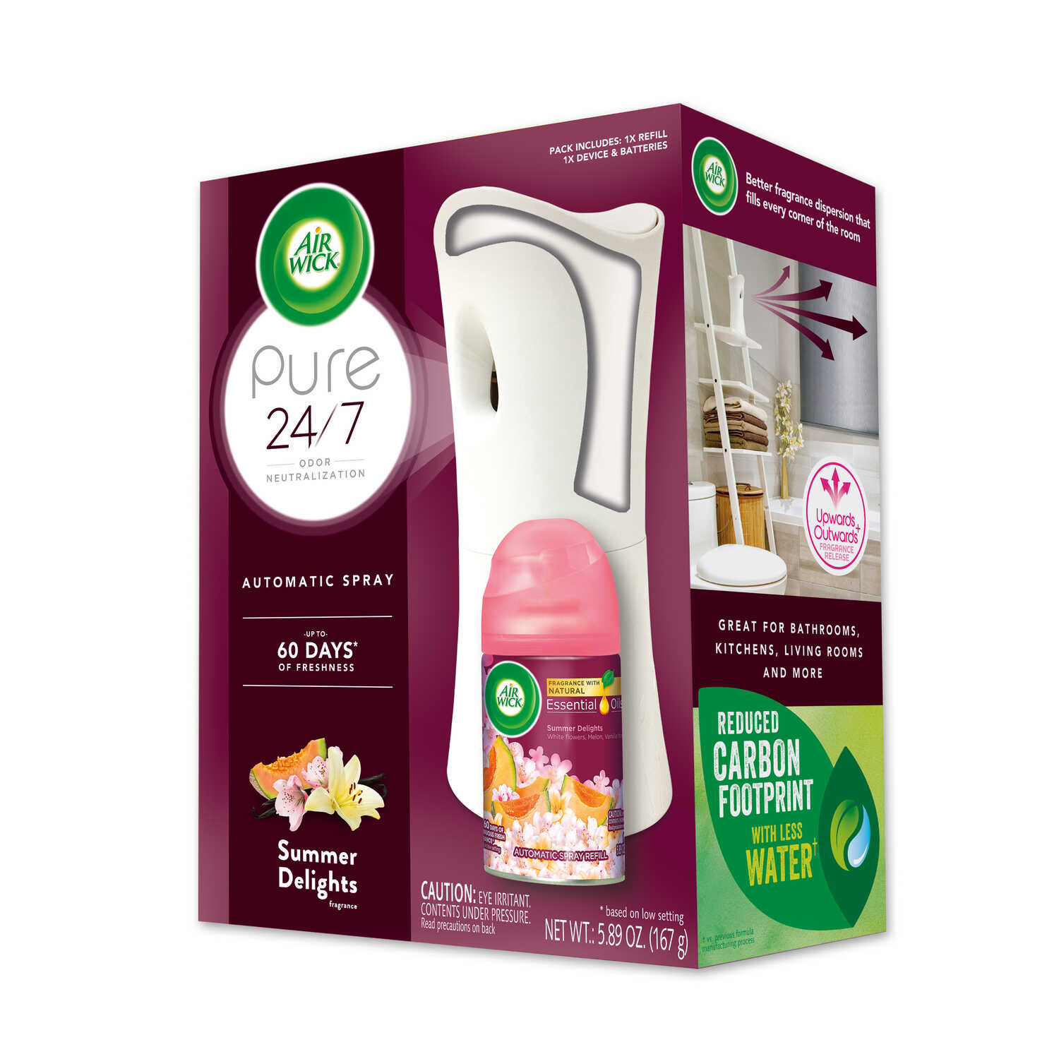 Air Wick  Life Scents  Summer Delights Scent Air Freshener Starter Kit  5.89 oz. Aerosol