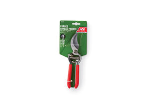 Ace  8 in. Carbon Steel  Bypass  Pruners