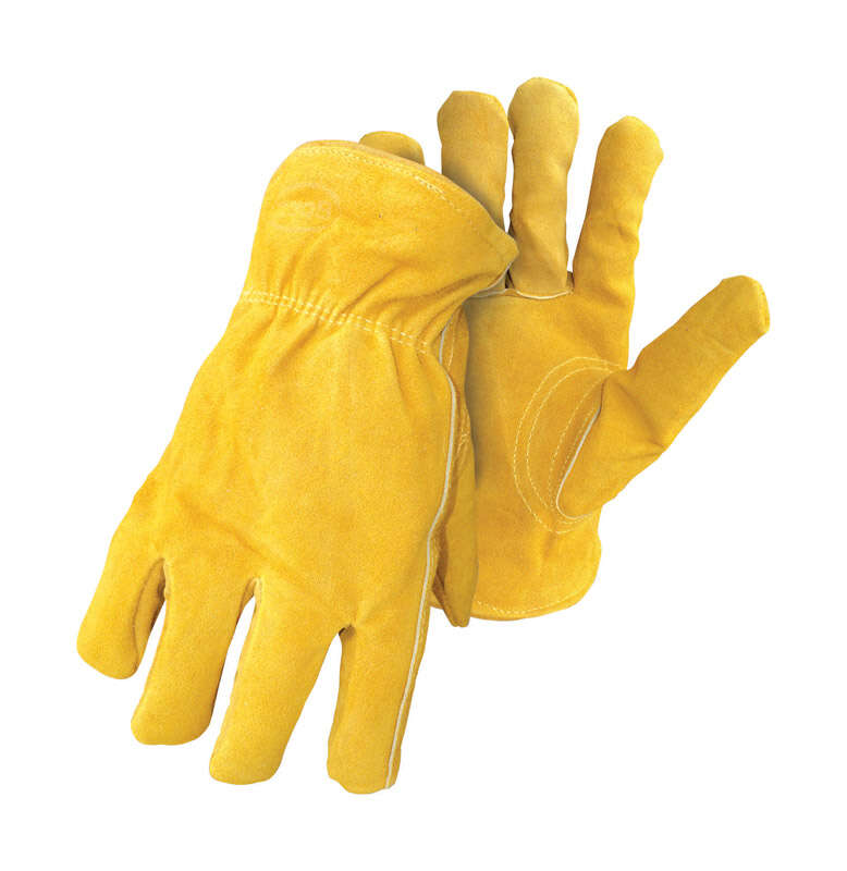Boss  Therm  Men's  Indoor/Outdoor  Split Deerskin Leather  Insulated  Driver Gloves  Yellow  XL  1