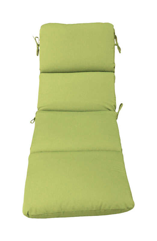 Casual Cushion  Polyester  3.5 in. H x 23 in. W x 74 in. L Gray/Lime  Seating Cushion
