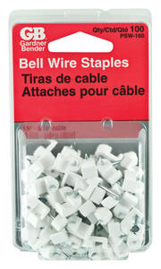 Gardner Bender  3/16 in. W Plastic  Insulated Wire Staple  100 pk