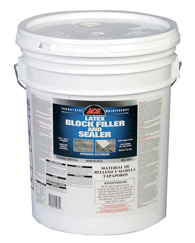 Ace  White  Latex  Block Filler & Sealer  5 gal.