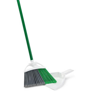 Libman  Precision Angle  10 in. W Stiff  Plastic  Broom with Dustpan