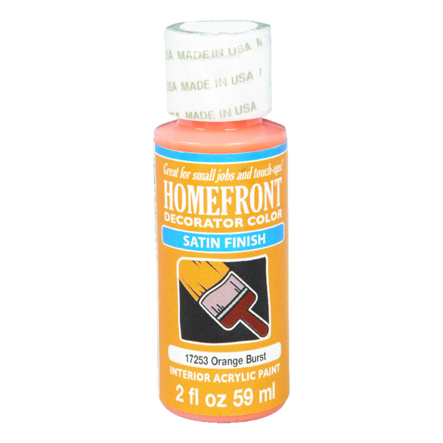 Homefront  Satin  Orange Burst  Hobby Paint  2 oz.