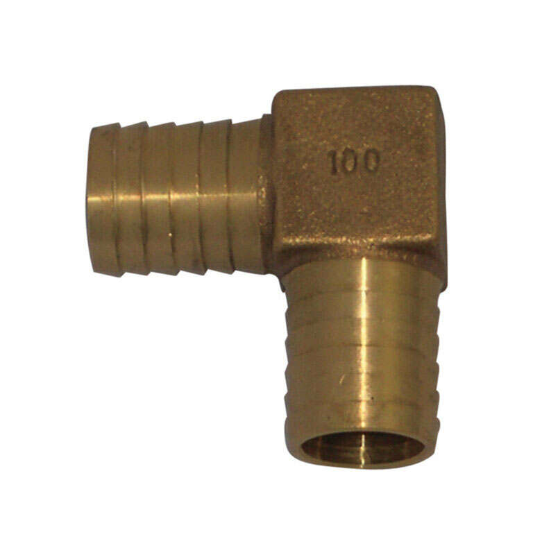 Campbell  1 in. MPT   x 1 in. Dia. MPT  Brass  90 Degree Elbow