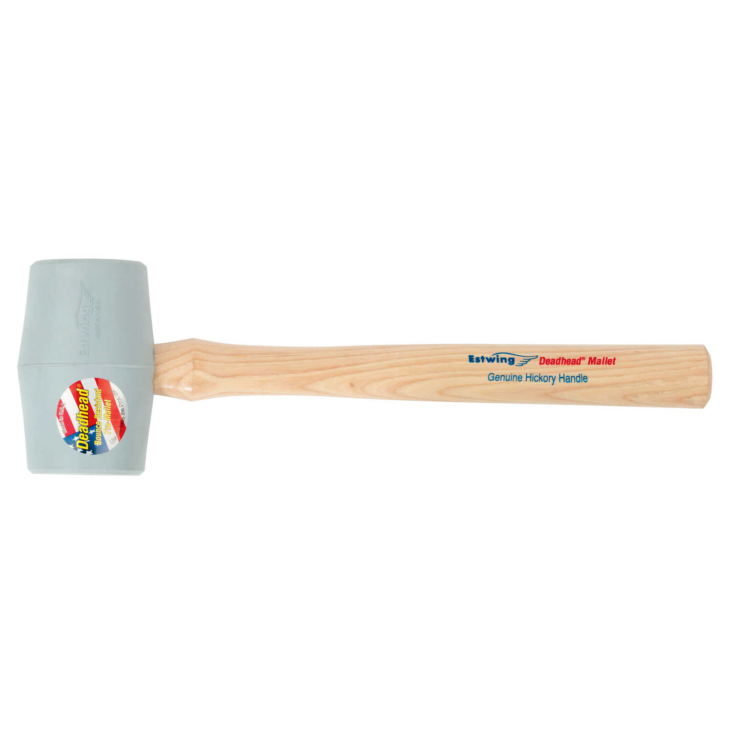 Estwing  Deadhead  18 oz. Rubber Head Mallet  15 in. L x 2.5 in. Dia.