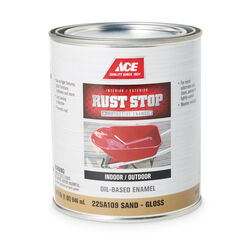 Ace  Rust Stop  Indoor and Outdoor  Gloss  Sand  Rust Prevention Paint  1 qt.