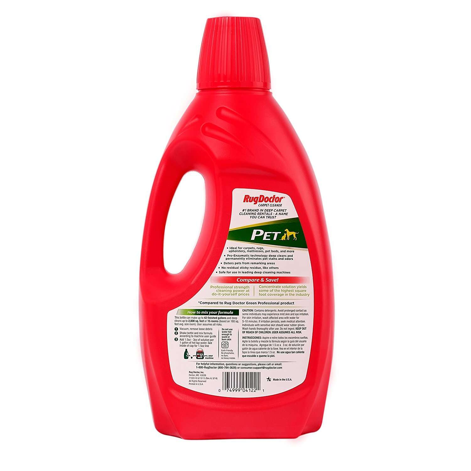 Rug Doctor  All Pets  Carpet Cleaner  64 oz.