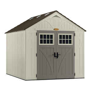 Suncast  Tremont  8.6 ft. H x 8 ft. W x 10 ft. D Vanilla  Resin  Storage Shed