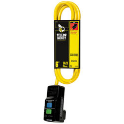 Coleman Cable  Yellow Jacket  Indoor  6 ft. L Yellow  GFCI Extension Cord  14/3