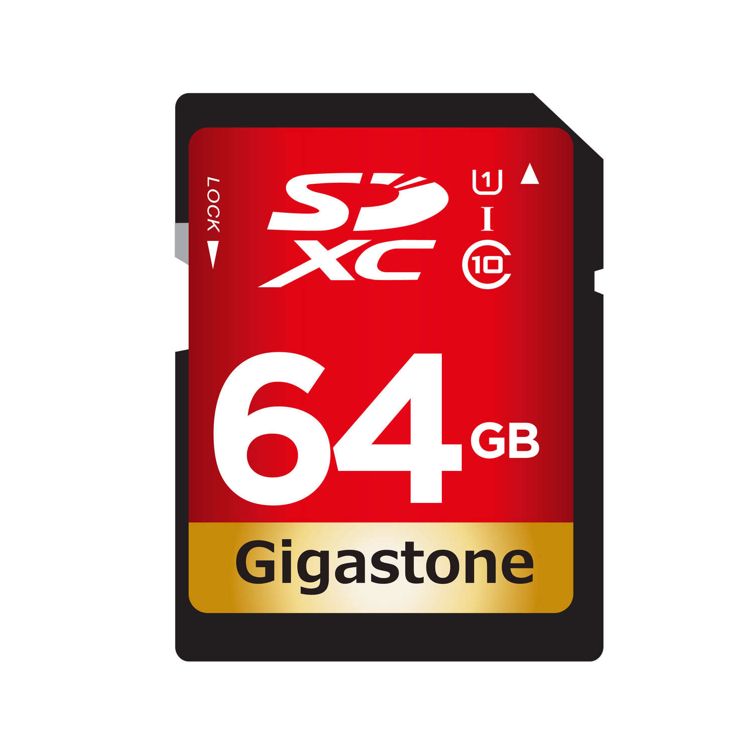 Gigastone  64 gigabyte SD Flash Memory Card  1 pk