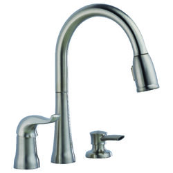 Delta Kate One Handle Stainless Steel Kitchen Faucet