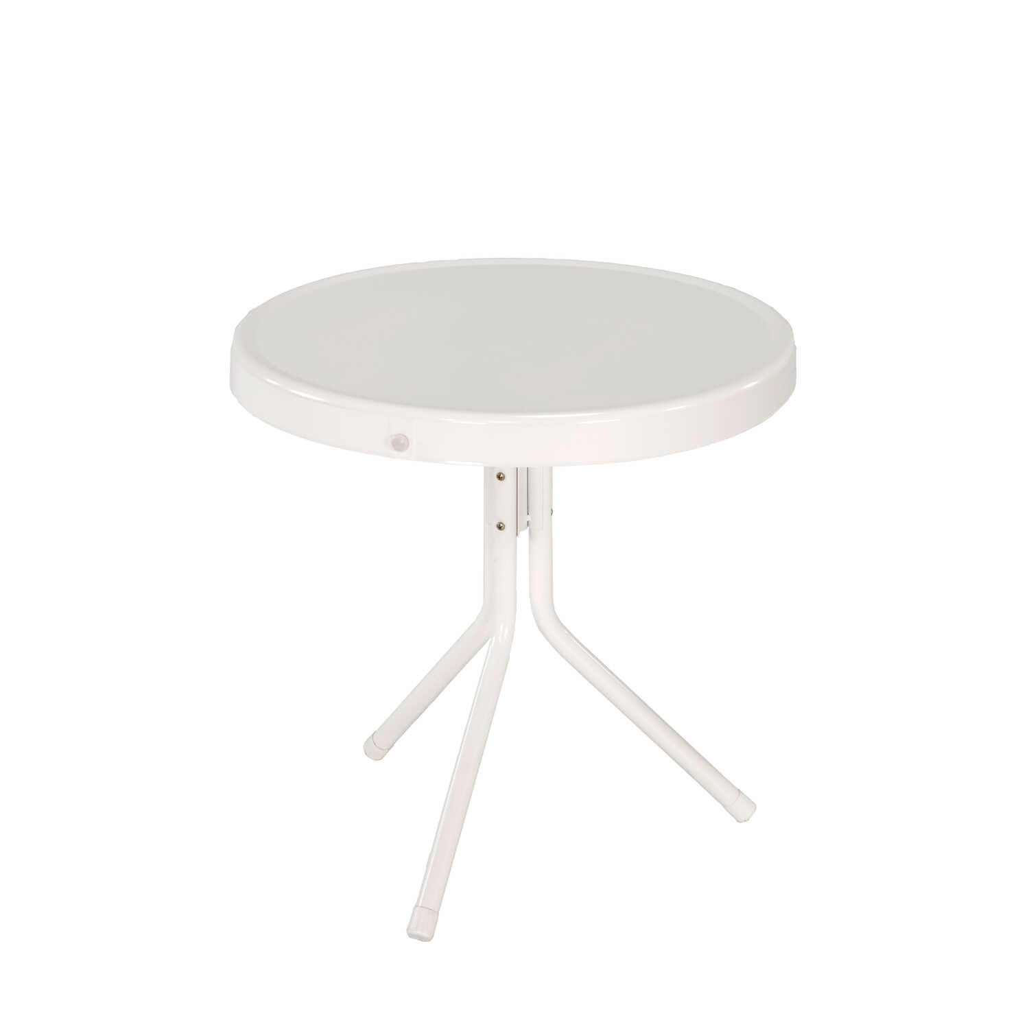 Jack Post  White  Retro  Round  Steel  Side Table
