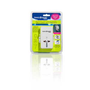 Travel Smart  Type A  For Worldwide Adapter Plug w/USB Port