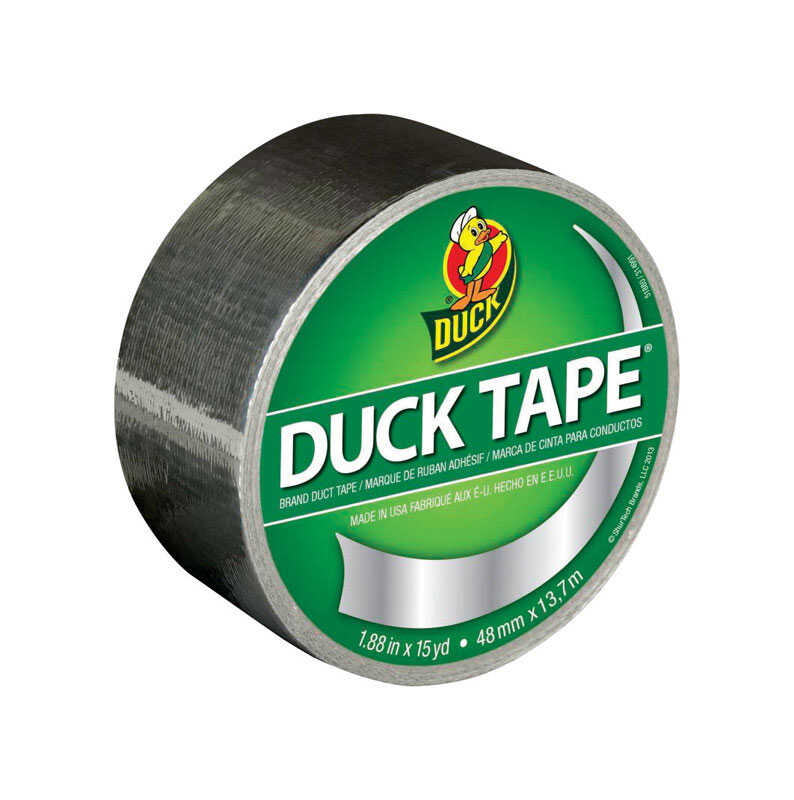 Duck  1.88 in. W x 15 yd. L Chrome  Duct Tape