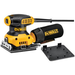 DeWalt  1/4 in. Corded  Sander/Polisher  Kit 2.3 amps 14000 opm Yellow