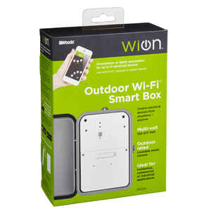 Woods  WiOn  Outdoor  Wi-Fi Timer  120-277 volt Gray