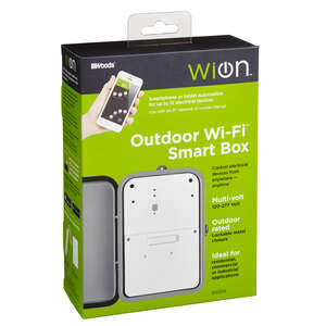 Woods  WiOn  Wi-Fi Timer  120-277 volts Gray  Outdoor