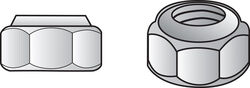 Hillman  3/8 in. Zinc-Plated  Steel  USS  Nylon Lock Nut  100 pk