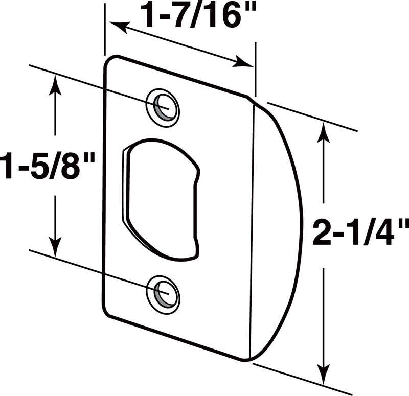 Prime-Line Latch Strike Plate 5 in. 5 in. x 9.8 in. x 3.2 in. Classic Bronze Steel 1-3/8 in. to 1-3/