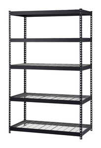 MUSCLE RACK  48 in. W x 24 in. D x 72 in. H Steel  Steel Shelves  EDSAL