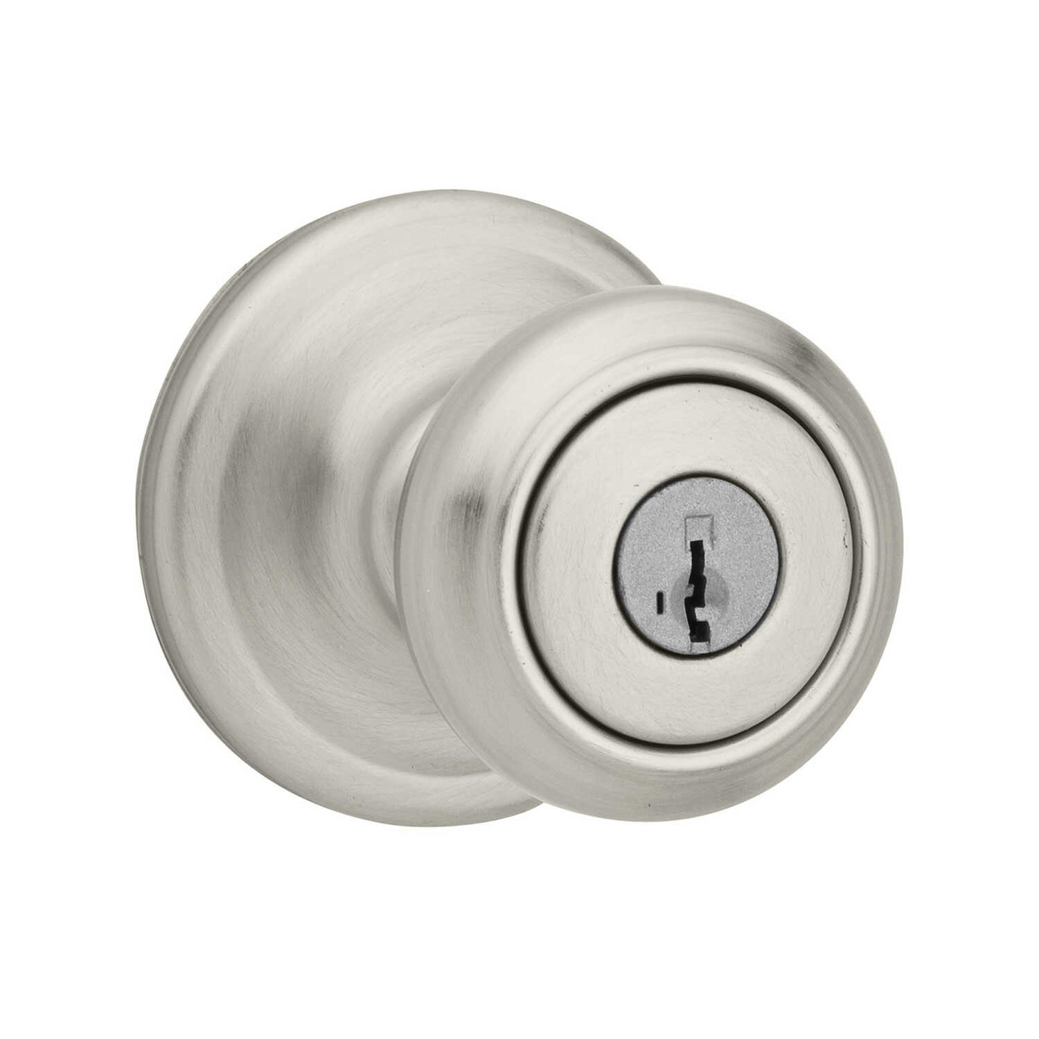 Kwikset  Cameron  Satin Nickel  Steel  ANSI/BHMA Grade 2  1-3/4 in. Entry Lockset