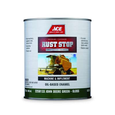 Ace  Rust Stop  Indoor/Outdoor  Gloss  John Deere Green  Oil-Based Enamel  Rust Preventative Paint