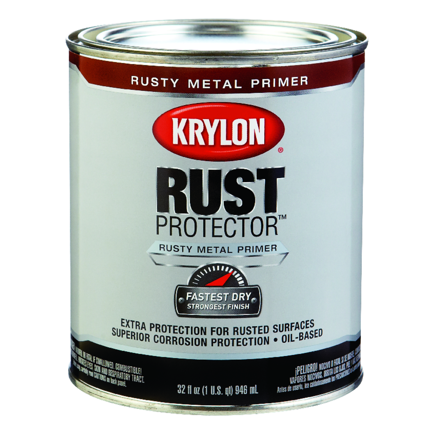 Krylon  Rust Protector  Rusty Red  Oil-Based  Primer and Sealer  For Rusty Metals 1 qt. Smooth