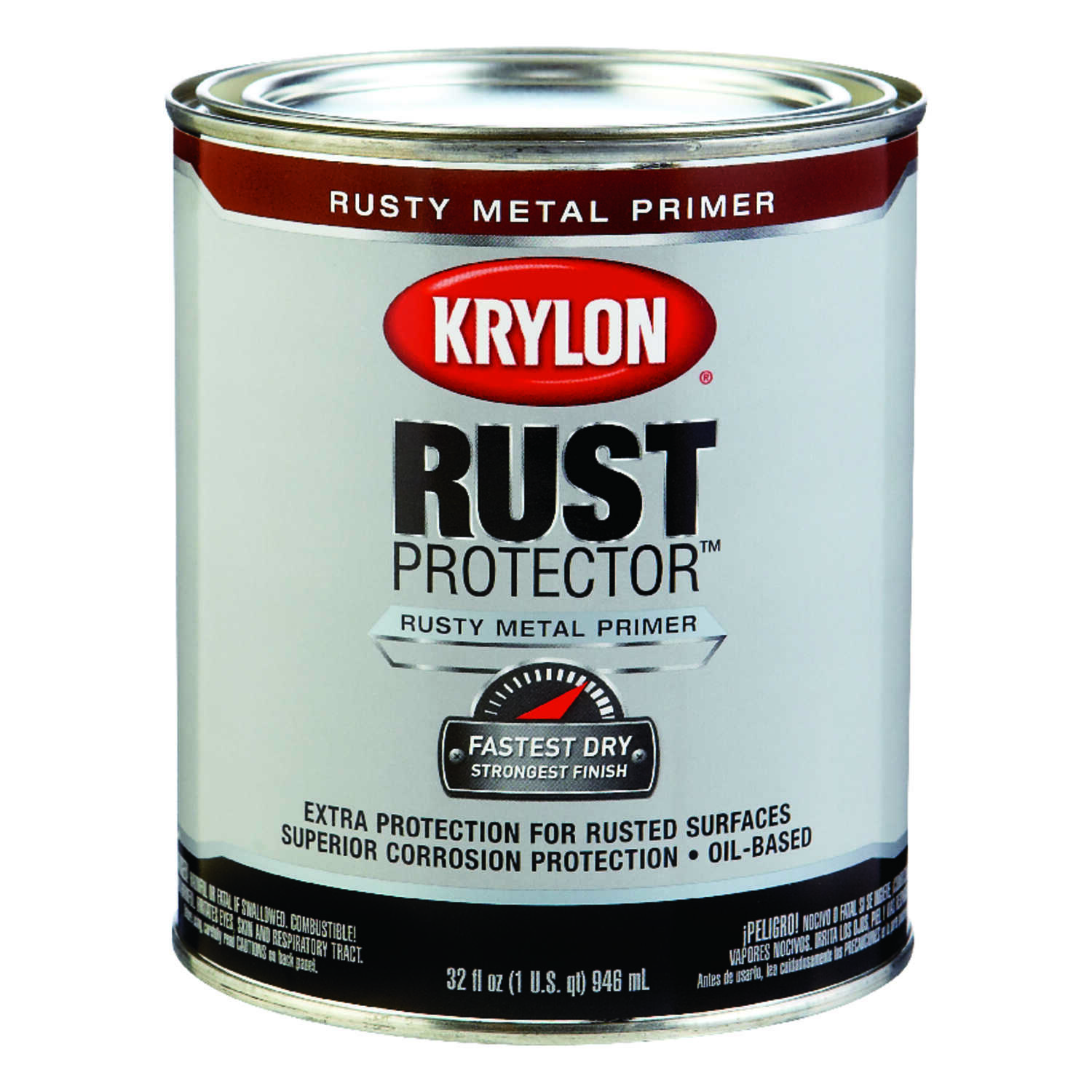 Krylon  Rust Protector  Rusty Red  Alkyd  Primer and Sealer  For Rusty Metals 1 qt. Smooth