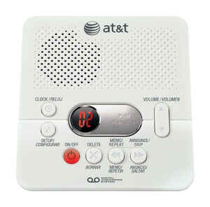 AT&T  Digital  White  Answering System  Built In Answering Machine 1 Number of Handsets