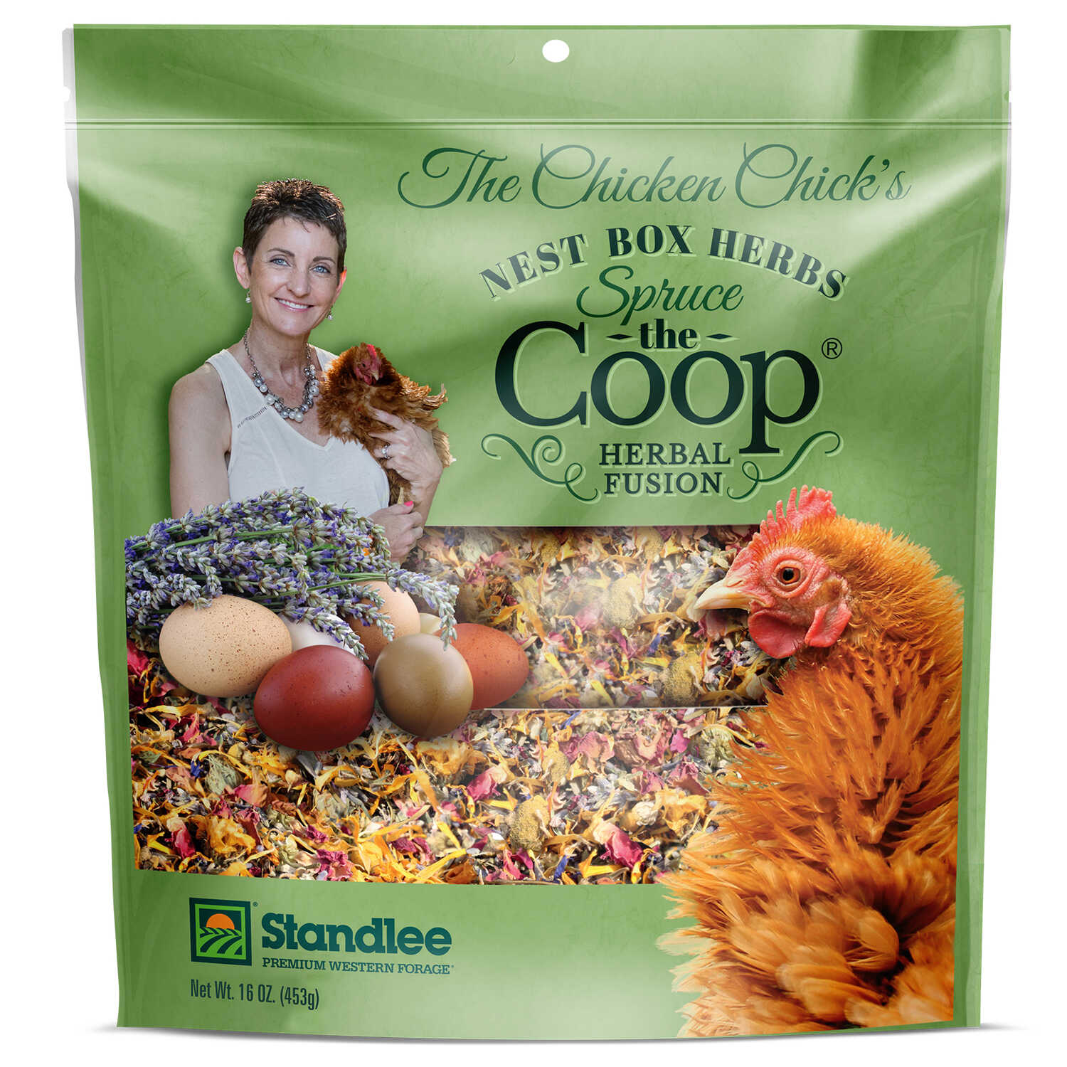 Standlee  Spruce The Coop  16 oz. Assorted Material  Chicken Coop Moisture and Ammonia Odor Absorben