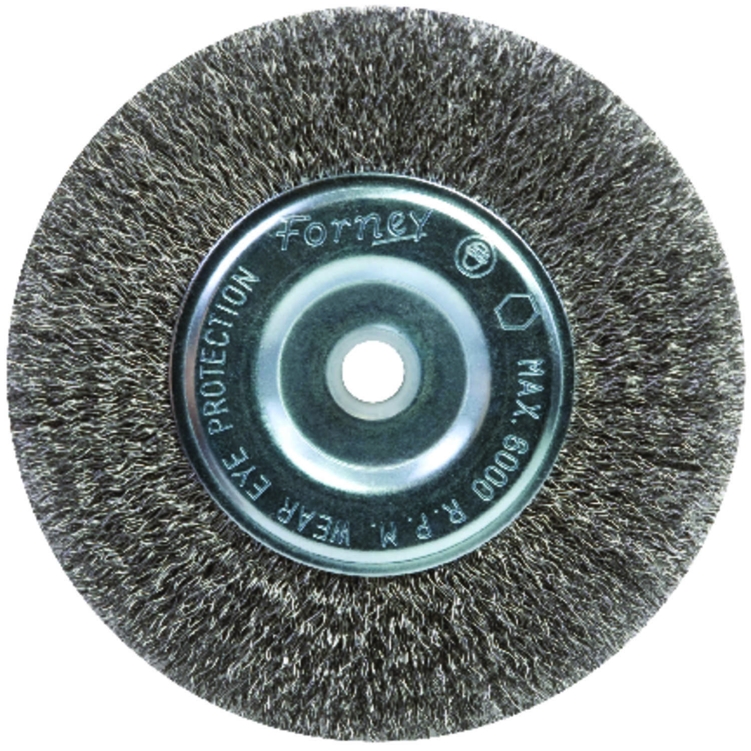 Forney  6 in. Crimped  Wire Wheel Brush  Metal  6000 rpm 1 pc.