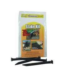 Master Mark 10 in. H Plastic Black Stake Kit