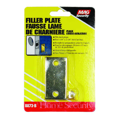 Prime-Line  Brass Plated  Gold  Steel  Door Filler Plate  1 pk